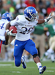 Kansas Jayhawks running back James Sims (29) in action during the game between the Kansas Jayhawks and the Baylor Bears at the Floyd Casey Stadium in Waco, Texas. Baylor leads Kansas 20 to 14 at halftime....