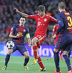 01.05.2013 Barcelona, Spain. UEFA Champions League Semi-Final 2nd leg. Picture show Thomas Muller in action during game between FC Barcelona Against Bayern Munchen at Camp Nou