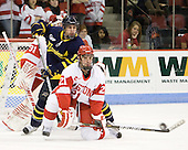 Brandon Brodhag (Merrimack - 12), Sean Escobedo (BU - 21) - The visiting Merrimack College Warriors tied the Boston University Terriers 1-1 on Friday, November 12, 2010, at Agganis Arena in Boston, Massachusetts.