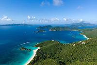 Aerial image of St. John's North Shore<br /> US Virgin Islands