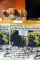 """Roma 3 Marzo 2010.Centro sociale Corto Circuito..""""Una piazza per Stefano Cucchi"""", assemblea su su sicurezza e inclusione, con Ilaria Cucchi .Rome, March 3, 2010.Short Circuit social center..""""A square for Stefano Cucchi"""", meeting on safety and inclusion, with Ilaria Cucchi"""