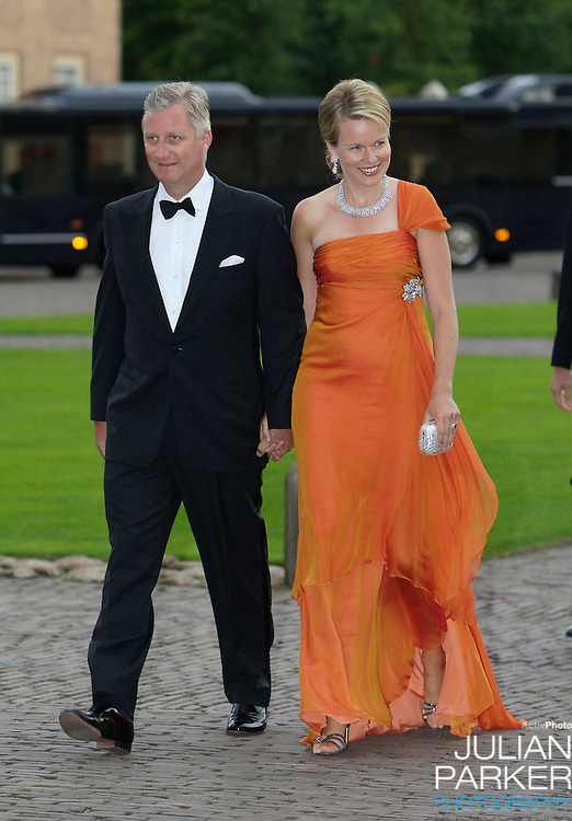 Crown Prince Phillipe, and Crown Princess Mathilde of Belgium, arrive for a Reception at Het Loo Palace in Apeldoorn, to celebrate the 40th Birthday of Crown Prince Willem Alexander, The Prince turned forty in April earlier this year.