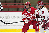 Kayla Tutino (BU - 8), Samantha Reber (Harvard - 12) - The Harvard University Crimson defeated the visiting Boston University Terriers 3-1 on Friday, November 22, 2013, at Bright-Landry Hockey Center in Cambridge, Massachusetts.