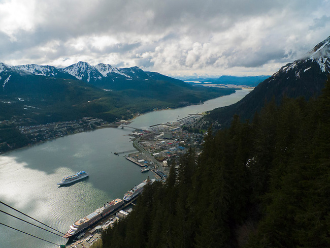 Juneau, Alaska from chair lift