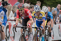 Tim Wellens (BEL/Lotto-Soudal) biting away in the finale<br /> <br /> 2017 National Championships Belgium - Elite Men - Road Race (NC)<br /> 1 Day Race: Antwerpen &gt; Antwerpen (233km)
