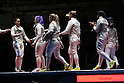 Team USA General View,<br /> AUGUST 13, 2016 - Fencing : <br /> Women's Sabre Team 3rd place match<br /> at Carioca Arena 3 <br /> during the Rio 2016 Olympic Games in Rio de Janeiro, Brazil. <br /> (Photo by Koji Aoki/AFLO SPORT)