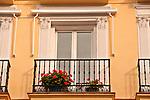 Balconies in the Chueca neighborhood of Madrid, Spain