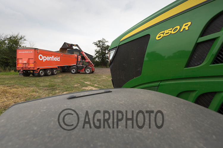 Openfield Grain lorry being loaded on farm<br /> Picture Tim Scrivener 07850 303986
