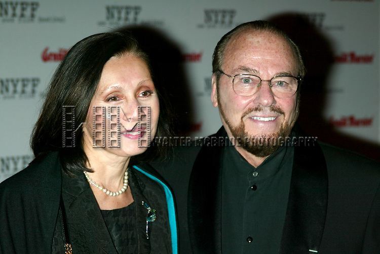 James Lipton and wife ttending the Opening Night of The New York Film Festival Premiere Screening of of MYSTIC RIVER at the Avery Fisher Hall, Lincoln Center, New York City.<br />October 3, 2003