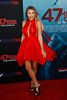 Los Angeles, CA - AUG 13:  Khloe Terae attends the Los Angeles Premiere of '47 Meters Down: Uncaged' at Regal Village Theater on August 13 2019 in Los Angeles CA. Credit: CraSH/imageSPACE/MediaPunch