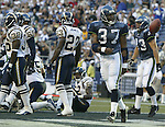 Seattle Seahawks' San Diego's during exhibition play Saturday, Aug. 9, 2003 at Seahawks's Stadium.  (AP Photo/Jim Bryant)