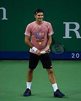 ROGER FEDERER (SUI)<br /> <br /> TENNIS - ROLEX SHANGHAI MASTERS - QI ZHONG TENNIS CENTER - MINHANG DISTRICT - SHANGHAI - CHINA - ATP 1000 - 2018 <br /> <br /> <br /> <br /> &copy; TENNIS PHOTO NETWORK