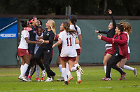 STANFORD, CA - November 23, 2018: Team at Laird Q. Cagan Stadium. The top seeded Stanford Cardinal defeated the Tennessee Volunteers 2-0 in the Quarterfinal of the NCAA tournament.