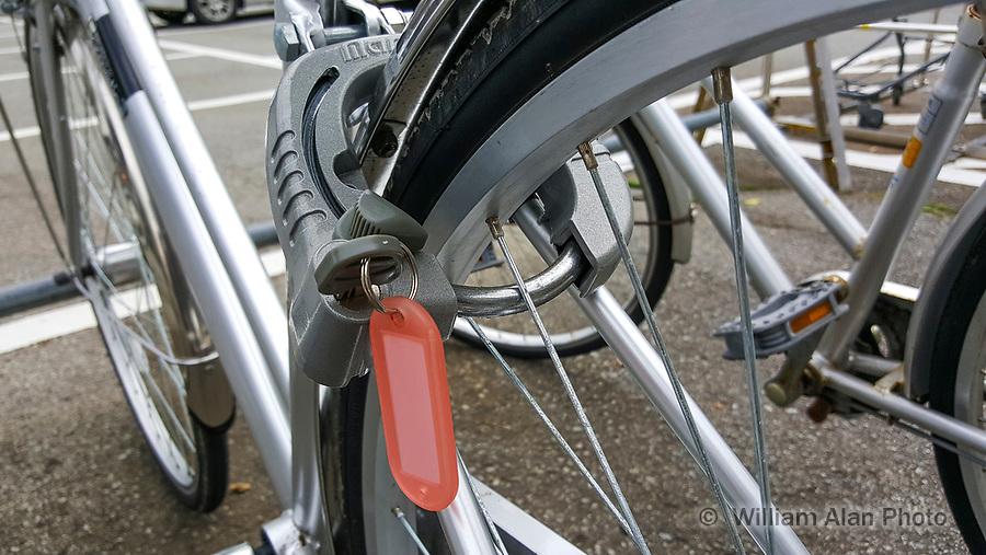 Bike lock in Japan, 2016.