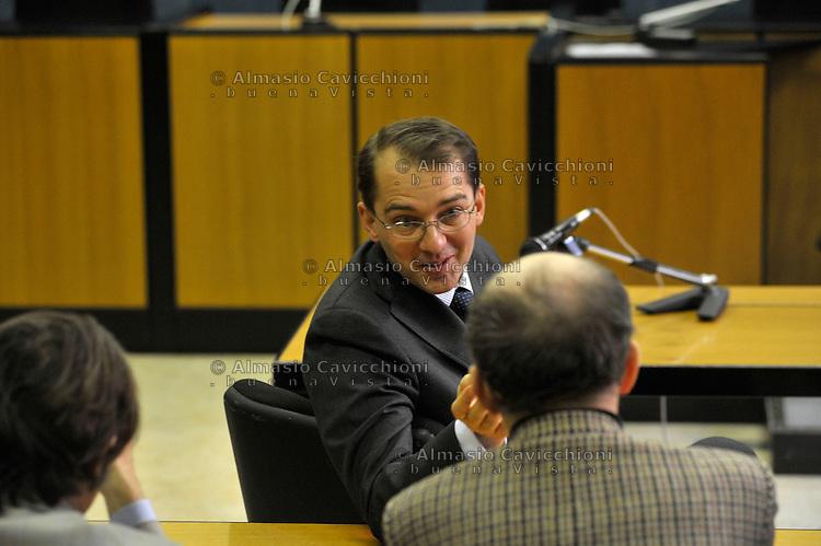 FEB 17 2009 MILAN:MILLS TRIAL, FEDERICO CECCONI, DAVID MILLS LAYER....17 FEB 2009 MILANO:PROCESSO MILLS, FEDERICO CECCONI, AVVOCATO DI DAVID MILLS