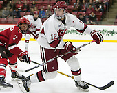 John Marino (Harvard - 12) - The Harvard University Crimson defeated the St. Lawrence University Saints 6-3 (EN) to clinch the ECAC playoffs first seed and a share in the regular season championship on senior night, Saturday, February 25, 2017, at Bright-Landry Hockey Center in Boston, Massachusetts.