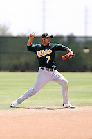 Leonardo Gil, Oakland Athletics 2010 minor league spring training..Photo by:  Bill Mitchell/Four Seam Images.