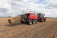 24.7.2020 Baling linseed straw<br /> ©Tim Scrivener Photographer 07850 303986<br />      ....Covering Agriculture In The UK.