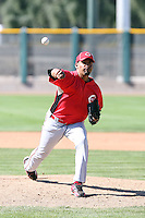 Federico Baez, Cincinnati Reds 2010 minor league spring training..Photo by:  Bill Mitchell/Four Seam Images.