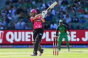 10th February 2019, Melbourne Cricket Ground, Melbourne, Australia; Australian Big Bash Cricket, Melbourne Stars versus Sydney Sixers; James Vince of the Sydney Sixers strikes the ball towards the boundary