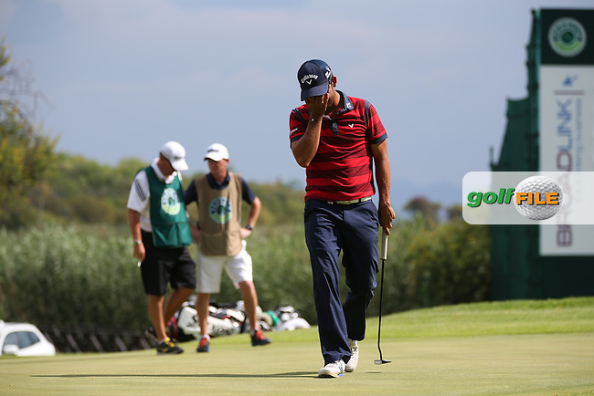 Pablo Larrazabal (ESP) on the 16th during the Final Round of the 2014 Nedbank Golf Challenge at the Gary Player Country Club, Sun City Resort, South Africa. Picture:  David Lloyd / www.golffile.ie