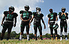 Members of the Wyandanch varsity football team prepare for a Division IV game against Center Moriches at Wyandanch High School on Thursday, Sept. 7, 2017.