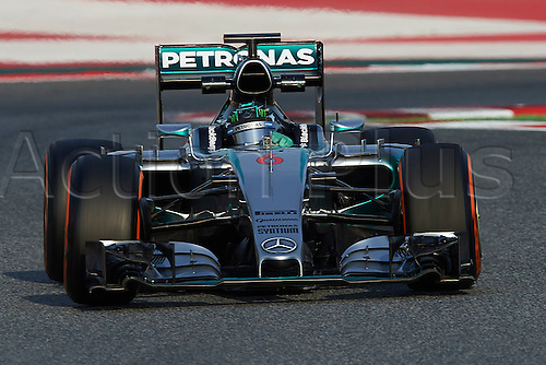 28.02.2015. Barcelona, Spain. F1 winter testing at Circuit de Barcelona.  Nico Rosberg (Mercedes Petronas), during day four of the final Formula One Winter Testing