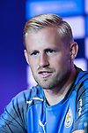 Leicester City Goalkeeper Kasper Schmeichel talks during a Premier League Asia Trophy Press Conference at Grand Hyatt Hotel on July 21, 2017 in Hong Kong, China. Photo by Marcio Rodrigo Machado / Power Sport Images