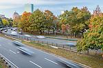 Traffic on Storrow Drive, Boston, Massachusetts, USA