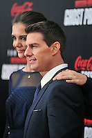 Katie Holmes and Tom Cruise at the U.S. Premiere Of 'Mission Impossible - Ghost Protocol' At The Ziegfeld Theatre in New York City. December 19, 2011. © mpi03/MediaPunch Inc.