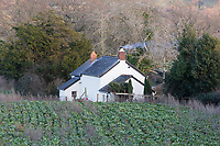 Great House Cottage in the village of Llangattock Lingoed near Abergavenny where Sarah Price (Formerly Shepherd), ex wife of Jack Shepherd lives near Abergavenny in Monmouthshire, Wales, UK. Wednesday 09 January 2019