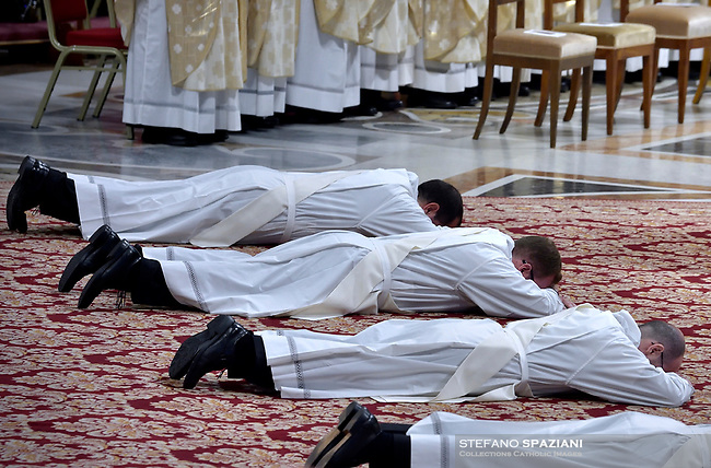 Pope Francis  the priests ordination mass in Saint Peter's Basilica at the Vatican, on May 12, 2019.