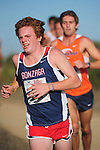 October 29, 2011; Belmont, CA, USA; Gonzaga Bulldogs runner Patrick Richie (51) competes during the WCC Cross Country Championships at Crystal Springs.