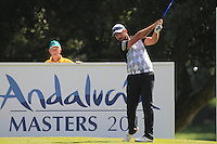 Christian Nilsson (SWE) during the final day of the  Andalucía Masters at Club de Golf Valderrama, Sotogrande, Spain. .Picture Fran Caffrey www.golffile.ie