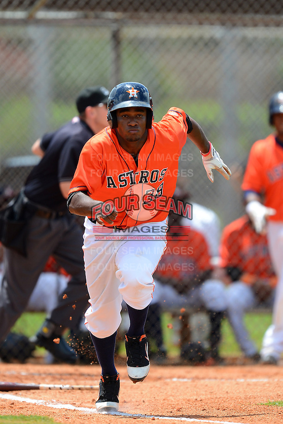GCL Astros second baseman Jose Solano (38) during a game against the GCL Pirates on July 16, 2013 at Osceola County Complex in Kissimmee, Florida.  GCL Pirates defeated the GCL Astros 6-3.  (Mike Janes/Four Seam Images)