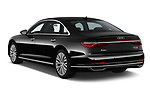 Car pictures of rear three quarter view of 2019 Audi A8-L Avus-Extended 4 Door Sedan Angular Rear