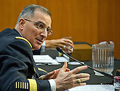 United States Army General Curtis M. Scaparrotti testifies before the US Senate Committee on Armed Services on his reappointment to the grade of General and to be Commander, United States European Command and Supreme Allied Commander, Europe on Capitol Hill in Washington, DC on Thursday, April 21, 2016.<br /> Credit: Ron Sachs / CNP