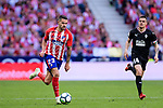 Victor Vitolo of Atletico de Madrid (L) runs with the ball during the La Liga match between Atletico Madrid and Eibar at Wanda Metropolitano Stadium on May 20, 2018 in Madrid, Spain. Photo by Diego Souto / Power Sport Images