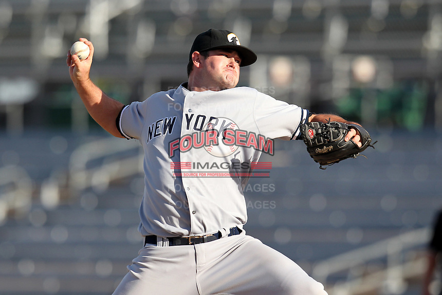 Phoenix Desert Dogs pitcher Preston Claiborne #50 during an Arizona Fall League game against the Mesa Solar Sox at HoHoKam Park on November 3, 2011 in Mesa, Arizona.  Mesa defeated Phoenix 8-7.  (Mike Janes/Four Seam Images)