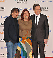 Richard Linklater, Clare Stewart and Bryan Cranston at the 61st BFI LFF &quot;Last Flag Flying&quot; Headline gala, Odeon Leicester Square, Leicester Square, London, England, UK, on Sunday 08 October 2017.<br /> CAP/CAN<br /> &copy;CAN/Capital Pictures