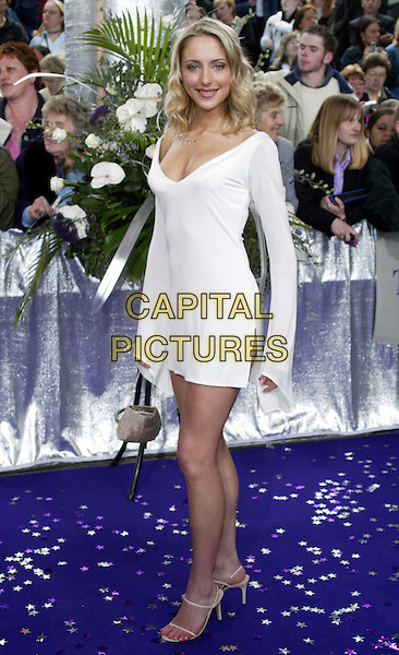 ALI BASTION.British Soap Awards.white minidress.www.capitalpictures.com.sales@capitalpictures.com.© Capital Pictures