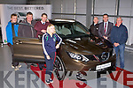 NEW QASHQAI: Checking out the new  Nissan QASHQAI at Randles Bros Manor West, Tralee on Monday l-r: Christopher O'Mahony, Christy O'Mahony, Jonathan Sheridan, Margurite Maunsell, Finbarr McKenna, David Randles and John Manusell.