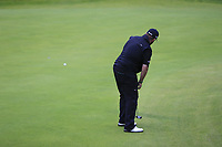 Shane Lowry (IRL) birdie putt on the 18th green with a 6 shot lead during Sunday's Final Round of the 148th Open Championship, Royal Portrush Golf Club, Portrush, County Antrim, Northern Ireland. 21/07/2019.<br /> Picture Eoin Clarke / Golffile.ie<br /> <br /> All photo usage must carry mandatory copyright credit (© Golffile | Eoin Clarke)