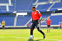 Danleigh Borman (11) of the New York Red Bulls during practice on Media Day at Red Bull Arena in Harrison, NJ, on March 15, 2011.