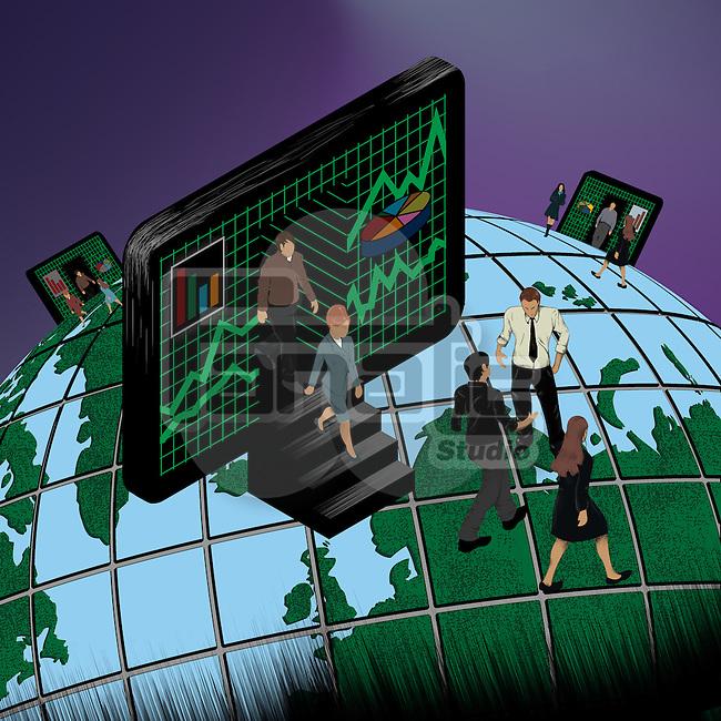 Illustrative representation of global business network