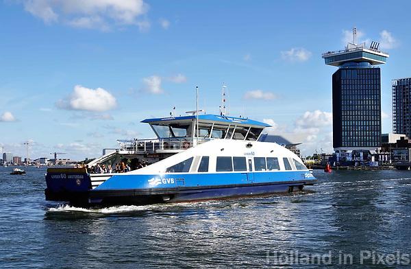 Nederland Amsterdam 2017 . IJveer 60 van Amsterdam Centrum naar Amsterdam Noord. Foto Berlinda van Dam / Hollandse Hoogte