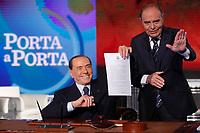 20180214 Silvio Berlusconi firma il contratto con gli italiani a Porta a Porta
