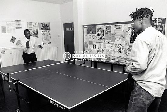 Table tennis, youth club Nottingham UK 1994