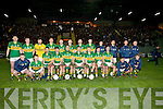 The Kerry Under 21 team who were defeated by Cork at Austin Stack Park on Wednesday night.