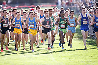 Stanford, CA - September 29, 2018: Men's start of the Stanford Cross Country Invitational held Saturday morning on the Stanford Golf course.